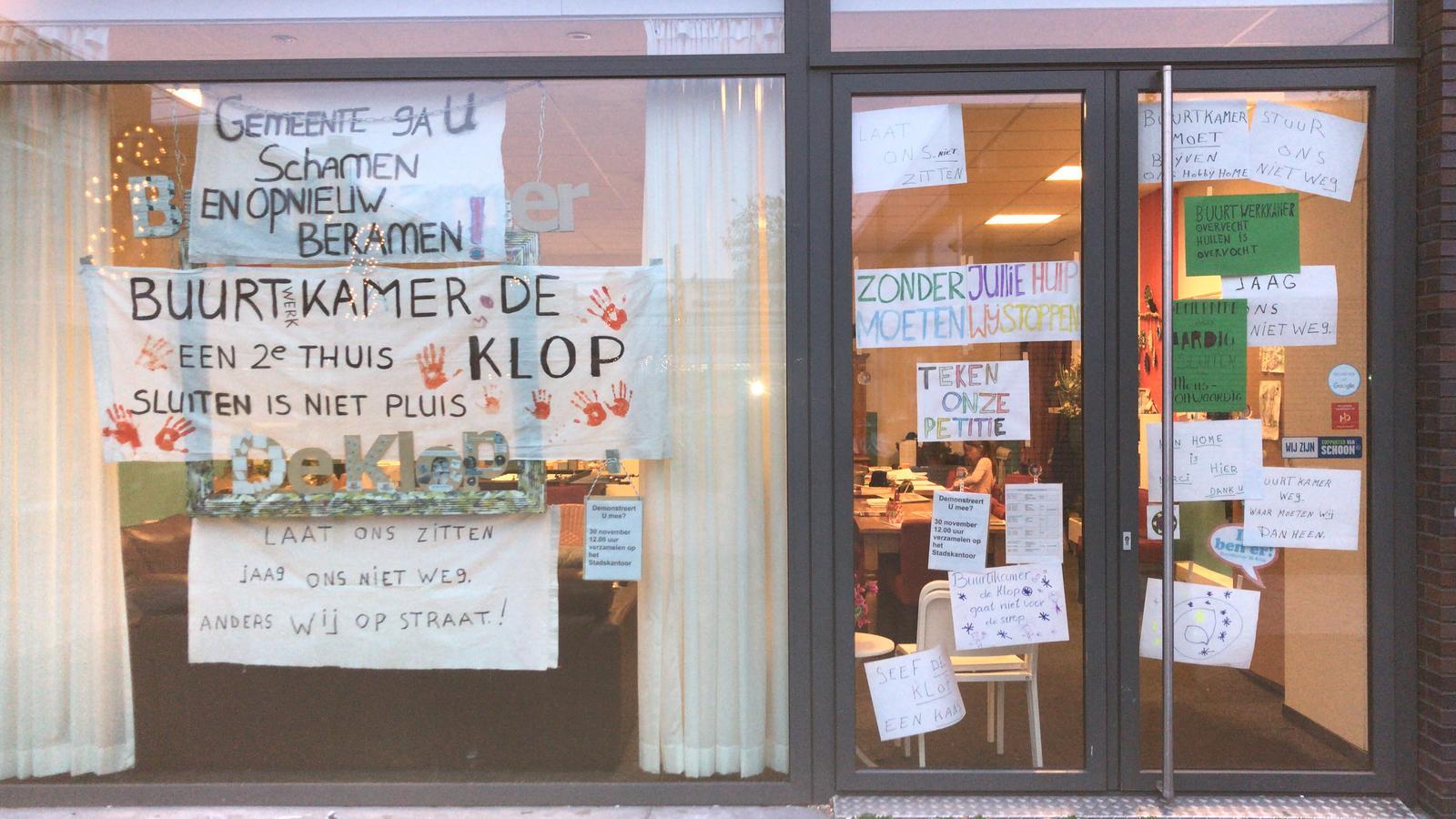Bewoners uiten ongenoegen over dreigende sluiting BuurtWerkKamer De Klop in Utrecht Overvecht