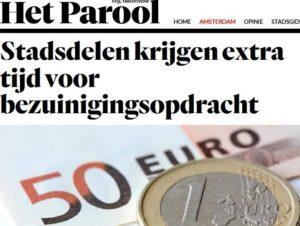 Het Parool Stadsdelen krijgen extra tijd voor bezuinigingsopdracht